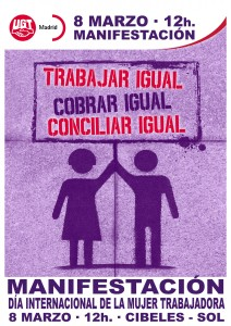 Dia Mujer Trabajadora 2015 CARTEL Manifestacion